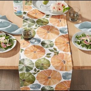 Crate and Barrel Pumpkin Table Runner